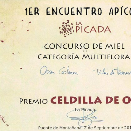 1r Premio 2017 miel de mil flores. Concurso de miel La Picada