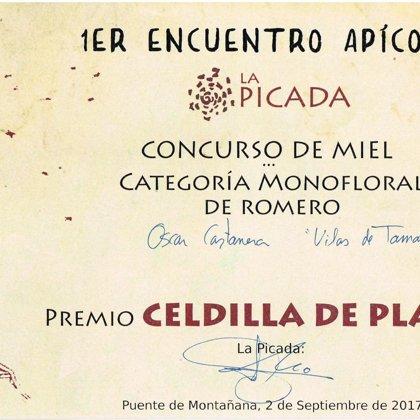 2º Premio 2017 miel de romero. Concurso de miel La Picada